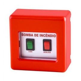Acionador botoeira de bomba de incêndio convencional