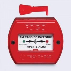 Acionador manual de alarme de incêndio endereçável IP20