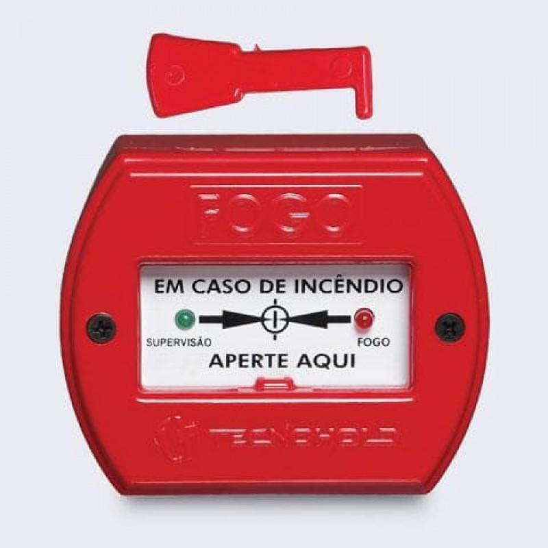 Imagem: Acionador manual de alarme de incêndio endereçável IP20 |Tecnofire