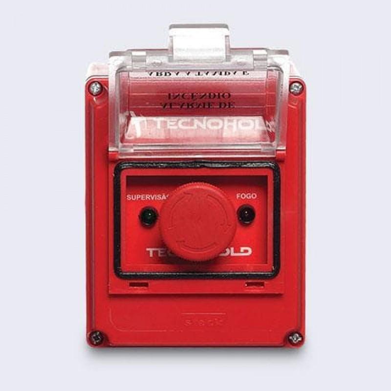 Imagem: Acionador manual de alarme de incêndio endereçável IP55 |Tecnofire