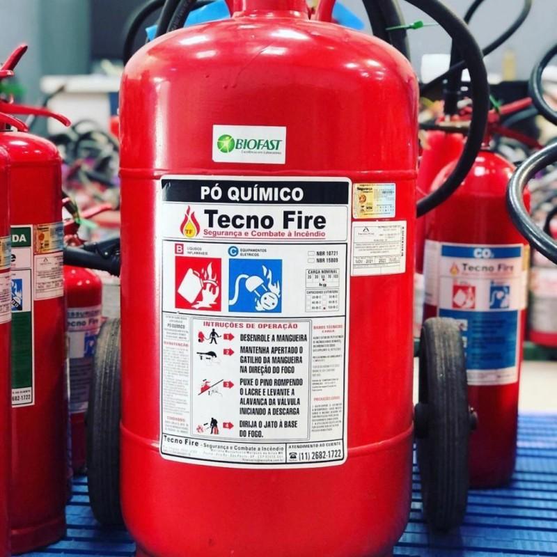 Imagem: Extintor de incêndio de Pó Químico Seco |Tecnofire