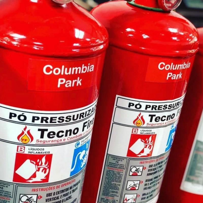 Imagem: Extintores de incêndio novos |Tecnofire