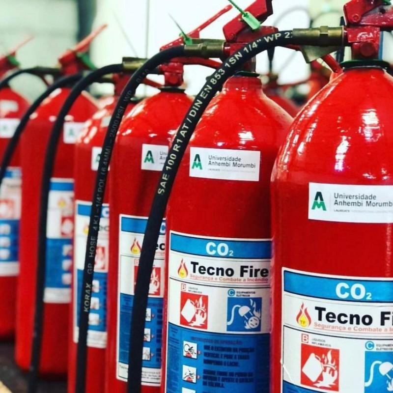 Imagem: Extintores de Incêndio de Dióxido de Carbono Co2 |Tecnofire