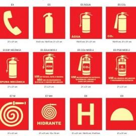 Instalação de sinalizações de emergência