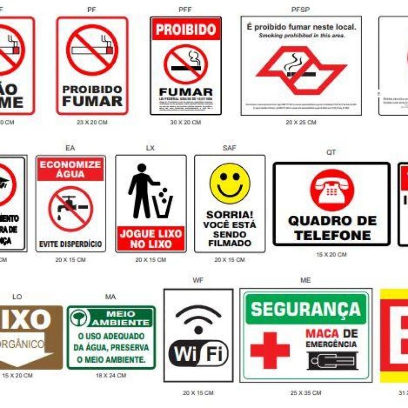 Imagem: Sinalizações de emergência |Tecnofire
